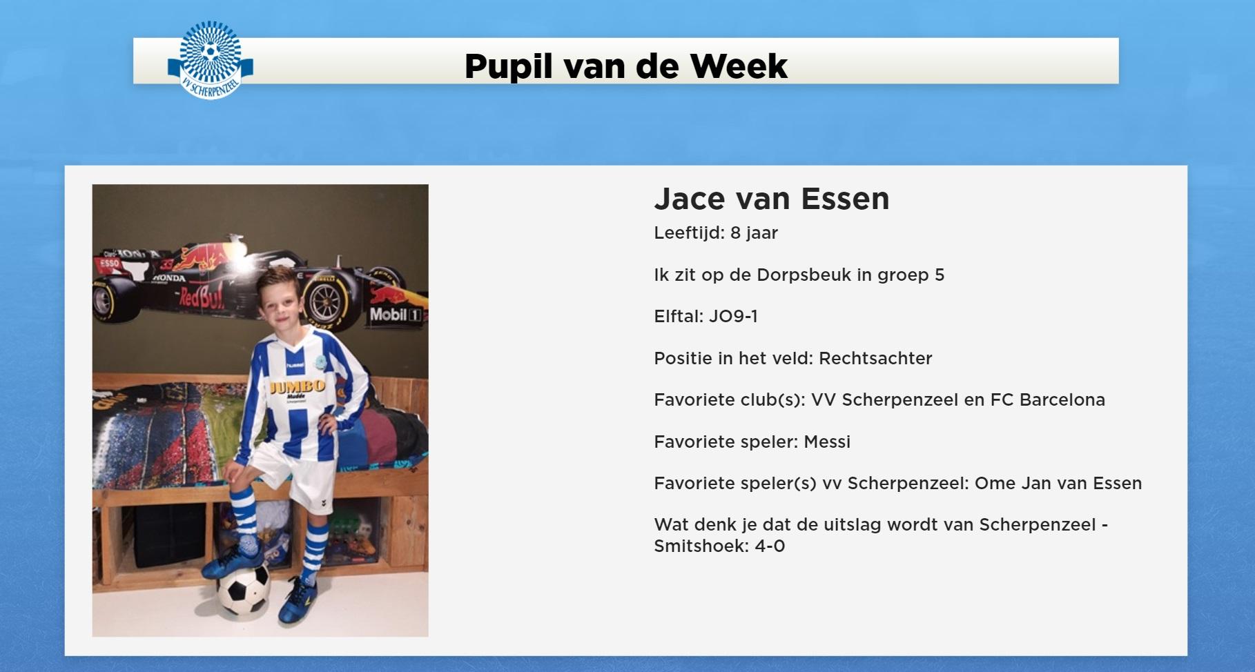 Jace van Essen is Pupil van de Week